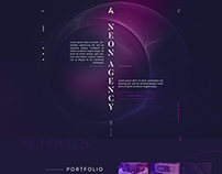 Neon Creative Agency Landing Page Website/UI Design