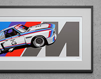 BMW 3.0 CSL Artwork