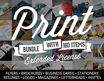Creative Print Templates Bundle with 160 Items – Only $
