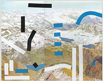 Les Alpes - collages