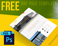 """FREE ONE PAGE WEBSITE TEMPLATE PSD 