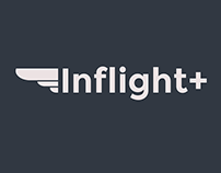 Inflight+ logo design
