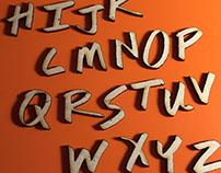 Lasercut Letterforms