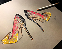 Various Shoe Illustrations