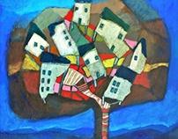 Village dans les arbres