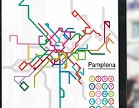 Proposal design for Pamplona bus routes map