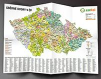 Mapa sběrných dvorů Asekol v ČR
