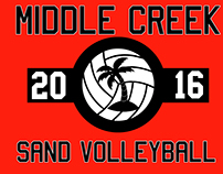 Middle Creek Sand Volleyball Logo