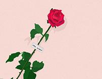 """Illustrazioni personalizzate """"Dillo con un fiore"""""""