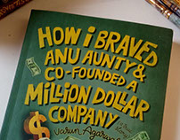 HOW I BRAVED ANU AUNTY - BOOK COVER DESIGN