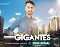 Campanha Despertando Gigantes - Senai 2015.