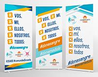 Banners para Campaña de Donación de Sangre