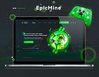 Разработка Веб-дизайна для EpicMine!
