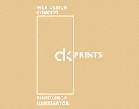 AK PRINTS - WEB DESIGN CONCEPT THEME