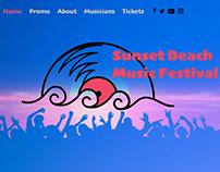 Sunset Beach Music Festival - Website Design