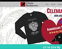 Classic Booklovers Web Design. classicbooklovers.com