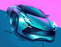 Porsche 911 E Doodle