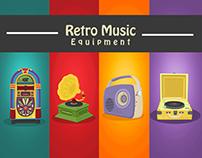 Retro Vintage Music Equipment (Props)