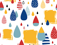 """Colorful Raindrops""pattern design,products"