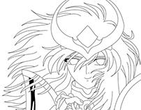 1º Pintura digital Shun de Andrômeda