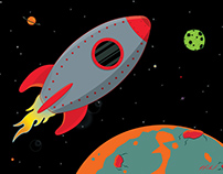 Rocket Ships Illustrations