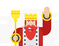 Flat Design Character - King