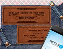 Clothing Birthday Invitation