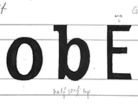 Typography Project 1 - Letterforms