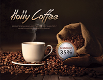 Holly Coffee Menu Flyer