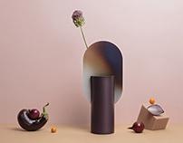 Genke limited edition vase with burned steel by NOOM