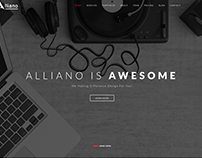 Alliano One Page Parallax Template