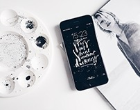 Downloadable | Hand Lettering Free iPhone Wallpapers