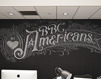 New York City Office Chalk Mural for BBC America