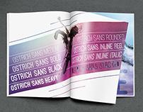 Ostrich Sans Type Specimen Magazine