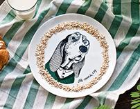 """Plates design for souvenirs shop """"Orner Store"""""""