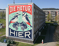 """Die Natur"" Wall (Jena, Germany)"