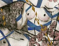 Printmaking II: Klimt-ish