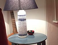 Majolica Lamp Base