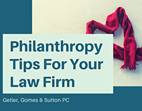 Philanthropy Tips For Your Law Firm