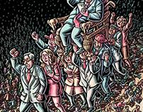 Illustration of Donald Trump for de Volkskrant