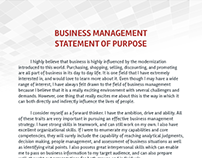 statement of purpose for engineeering management What is engineering management engineering management is a specialized form of management that is required to successfully lead engineering or.