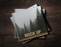 Square Book Cover Mock-UP