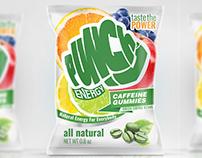 Energy gummies, packaging design