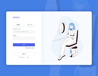 Login Page for travel app