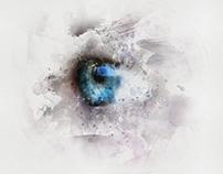Eye from blue