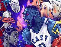 2016 NBA All-Stars as Space Jame MONSTARS