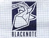 Обновленный вариант логотипа BLACKNOTE