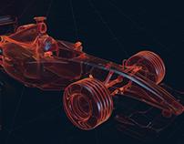 Ferrari F1 Car Render Cycles 4D