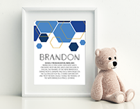 Name Meaning Art Print