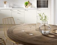 Budget Kitchen Cabinetry CGI